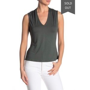 14th and Union Soft Sleeveless V-neck Top